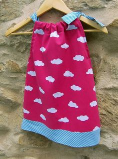 Girl dress with clouds