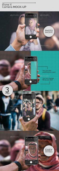 iFone X #Camera Mock-Ups - #Mobile Displays #iphone