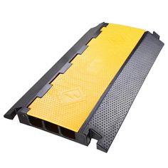 Rubber cable ramp is perfect for continuous heavy outdoor cable 3 channel rubber electrical wire cable cover ramp guard warehouse cord protector publicscrutiny Gallery