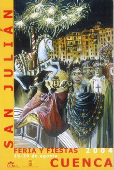 San Julián 2004 Programa oficial de las Fiestas de San Julián 2004 del 19 al 29 de agosto El cartel anunciador de este año es de Alberto Malo #FiestasPopulares #Cuenca #SanJulian