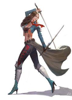 Two Swords, ㅇㅇ ㅇㅇ on ArtStation at https://www.artstation.com/artwork/two-swords-bc0b8bec-fa85-4b81-b90d-8d3ca1cfd833