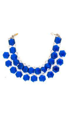 Nanni semiprecious blue stone collar -  #accessories