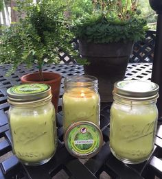 LEMONGRASS Mosquito Repellent Candles - ALL NATURAL ESSENTIAL OILS. Get the mosquitoes off your patio and out of your life! NO DEET