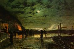 Cave to Canvas, John Atkinson Grimshaw, In Peril, 1879