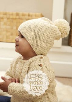 Hanlith Hat – Knitted in dk weight yarn with sizes newborn, baby and child.