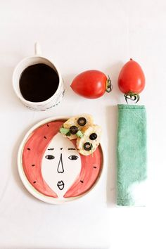 Tropical watermelon Plate by lamalconttenta on Etsy, €25.00