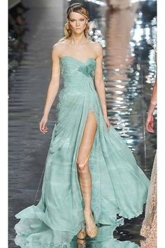 Mint green dress from My Dream Gown