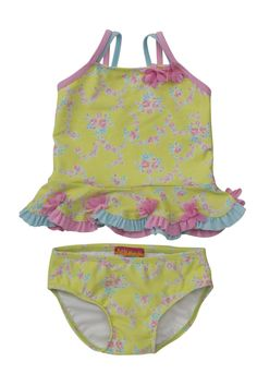 Kate Mack Water Sprite Swimsuit in Lime