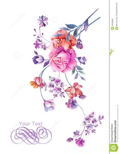 watercolor-illustration-flower-bouquet-simple-background-decoration-as-59336965.jpg (1009×1300)