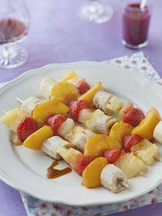Brochettes de fruits au barbecue