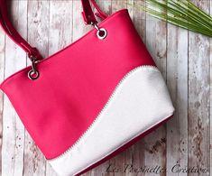Sac Samba rose et blanc cousu par Laeticia - Patron Sacôtin