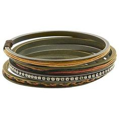 1928 T.R.U. Native Brown & Butterscotch Medley Bangles Set