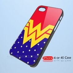 Wonder Woman Inspired Custom iPhone 4 4S Hard Case Cover