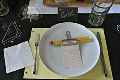 Back to School Place Setting Idea - So simple and so fun!