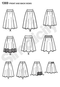 Purchase Simplicity 1369 Misses' Skirts in Three Lengths and read its pattern reviews. Find other Skirts, sewing patterns.