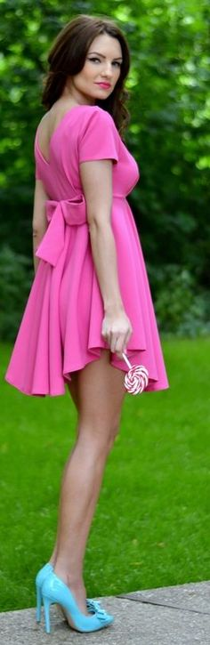 Fairytale Collection Shop Pink Back Bowknot High And Low Skater Dress by My Silk Fairytale