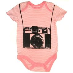 ooh a pinkish camera onesie -- makes me want to print again.