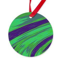 Green blue Ornament on CafePress.com