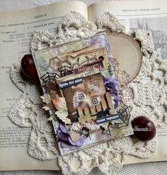 C.h.e.a.p.-art: Вдохновение от ДК. Анна Бережнова: Открытка-мотиватор с оттенком Хеллоуина