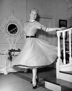 Doris Day on the set of Young at Heart 1954.