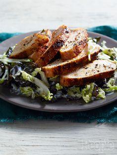 Grilled Chicken with Kale Slaw 2½ tsp. kosher salt, divided 1½ tsp. freshly ground black pepper, divided 1 tsp. cumin 1 tsp. chili powder Zest of 1 lemon 4 chicken breasts 2 tbsp. vegetable oil ½ c…
