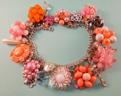 Pink and Peach Dream One of a Kind Repurposed door Modulation