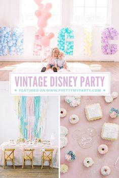 Disney World Birthday, Disneyland Birthday, Princess Birthday, Birthday Party Themes, 3rd Birthday, Birthday Ideas, Pastel Party, Party Entertainment, Childrens Party