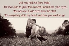 """""""You Had Me From Hello"""" - Kenny Chesney"""