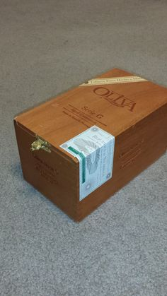 Oliva Wooden Cigar boxe with metal  hinge by TeresaScholleDesigns