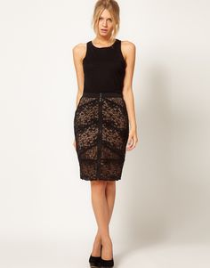 Oasis Sexy Lace Skirt at ASOS