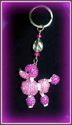 Swarovski crystals poodle keychain by Purrwoof on Etsy, $12.00