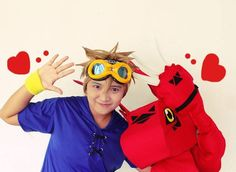 Takato with Guilmon - Digimon Tamers Cosplay by shuukichi.deviantart.com on @deviantART