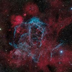 The image was taken by last year's Astronomy Photographer of the Year winner, Marco Lorenzi, and shows the intricate structure of the aftermath of a supernova explosion.