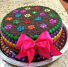46 new Ideas cake easy decoration birthday kids Candy Cakes, Cupcake Cakes, Cake Fondant, Cute Cakes, Yummy Cakes, Birthday Cake Decorating, Homemade Chocolate, Creative Cakes, How To Make Cake