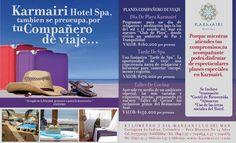 """Karmairi Hotel Spa también se preocupa por tu compañero de viaje… Descubre nuestros """"Planes compañero de viaje """""""
