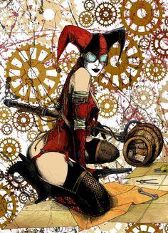 Les plus grands super-héros à la sauce steampunk - Harley Quinn par jmascia