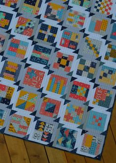 how to make a modern Simple sampler quilt, tutorial by Sharon McConnell
