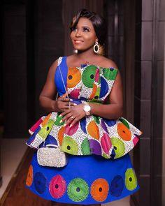 Ankara Skirt And Blouse, Ankara Dress Styles, African Wear Dresses, African Wedding Dress, Latest African Fashion Dresses, African Print Shirt, African Print Fashion, Africa Fashion, African Prints