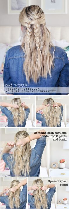 An easy back to school hairstyle!!  Video or step by steps from twistmepretty.com