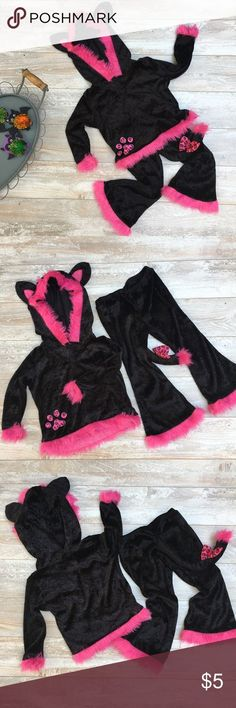 Girls pink and black cat costume Size 3-4, Excellent Condition! #poshmark #fashion #shopping #style #Other #halloween #costume