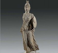 Roman basalt figure of Minerva, 2nd century, CE