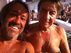 Bovelix 2015...dj booth at Bagno Obelix with my cousin