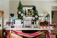 Create a hot chocolate bar for your Polar Express party!