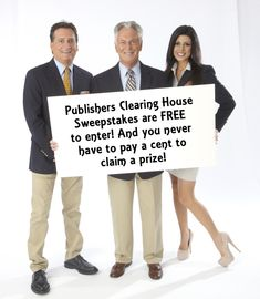 Publishers Clearing House Sweepstakes are FREE to enter
