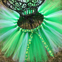Irish Tutu Green St. Patrick's Day Tutu Petti by TutusByJessT