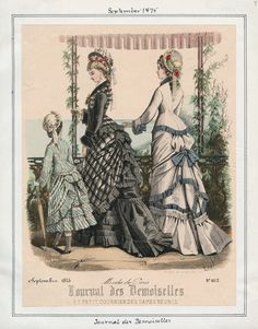 Casey Fashion Plates Detail | Los Angeles Public Library Journal des Demoiselles Date:  Wednesday, September 1, 1875