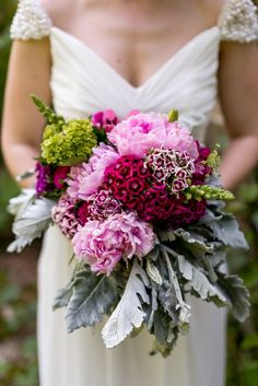 pink and magenta bouquet | Bekah Kay Creative | Glamour & Grace