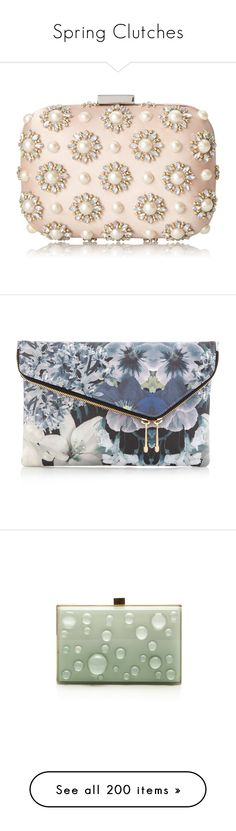 """Spring Clutches"" by pocahaunted666 ❤ liked on Polyvore featuring bags, handbags, clutches, bolsa, borse, special occasion handbags, aldo purses, evening handbags, rhinestone studded handbags and rhinestone clutches"