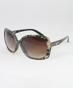 This Black Leopard Shaper Sunglasses by Kenneth Cole is perfect! #zulilyfinds