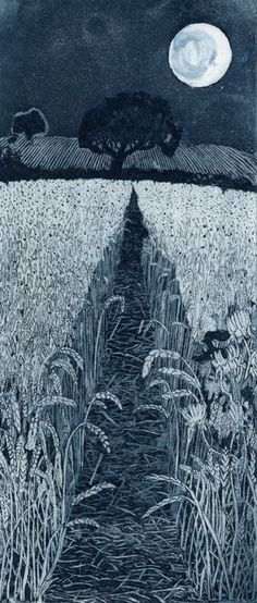 mau-indy:      artpropelled:      Moonshine by Janis Goodman       ☆
